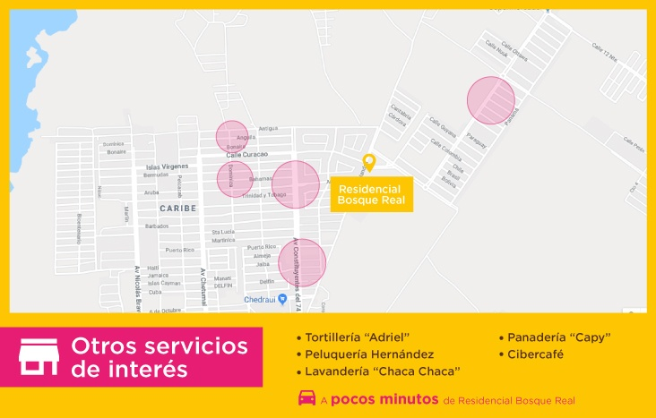 Bosque Real servicios otros interes casas-nuevas en chetumal