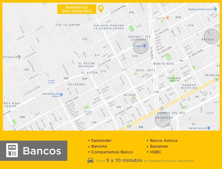 Gran-Alejandria-casas-nuevas-en-cancun-bancos