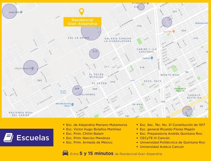 Gran-Alejandria-casas-nuevas-en-cancun-escuelas