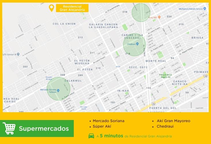 Gran-Alejandria-casas-nuevas-en-cancun-supermercados