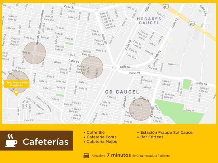 Gran Herradura Poniente Cafeterias casas nuevas en venta en merida