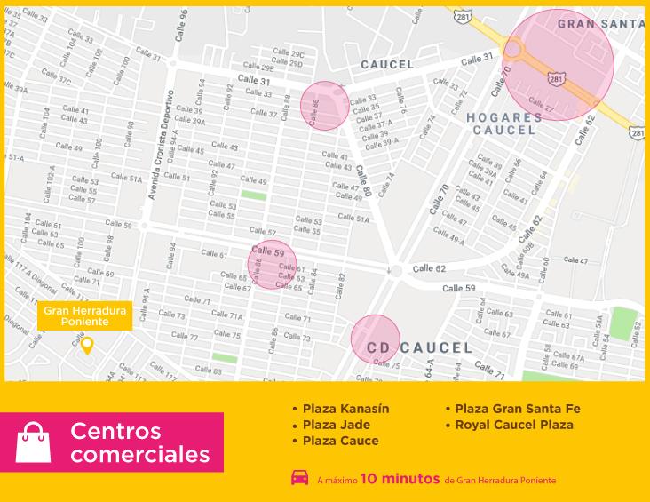 Gran Herradura Poniente Centros comerciales casas nuevas en venta en merida
