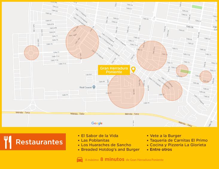 Gran Herradura Poniente Restaurantes casas nuevas en venta en merida