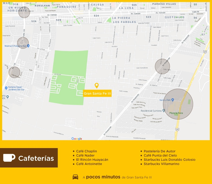 Gran Santa Fe III Cafeterias casas nuevas en venta en cancun