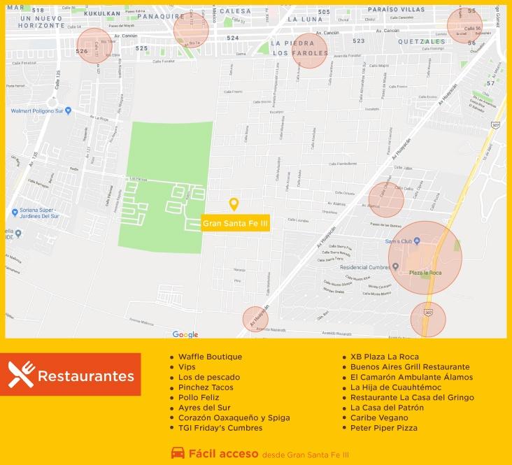 Gran Santa Fe III Restaurantes casas nuevas en venta en cacun