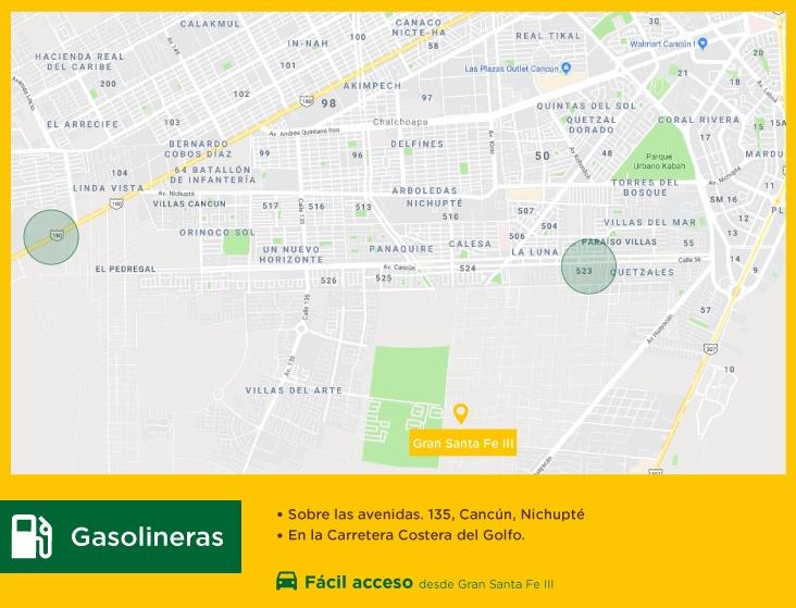 Gran-Santa-Fe-III-casas-nuevas-en-cancun-gasolineras