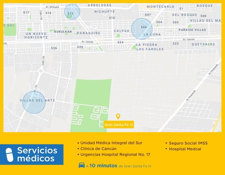 Gran-Santa-Fe-III-casas-nuevas-en-cancun-servicios-medicos