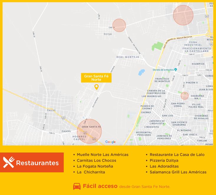 Gran Santa Fe Norte Restaurantes casas nuevas en venta merida