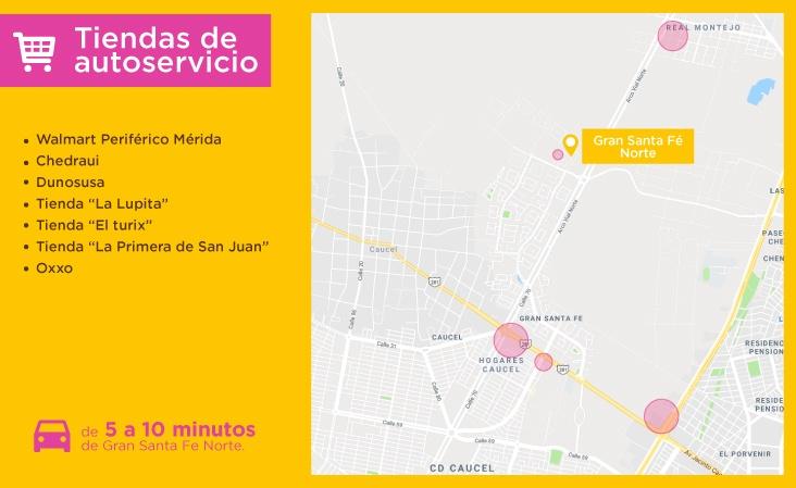 Mapas-servicio-Gran-Santa-Fe-Norte-Merida-tiendas-autoservicio-casas-nuevas-en-merida