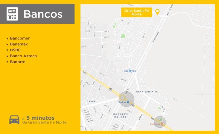 Mapas-servicio-Gran-Santa-Fe-Norte-bancos-casas-nuevas-en-merida