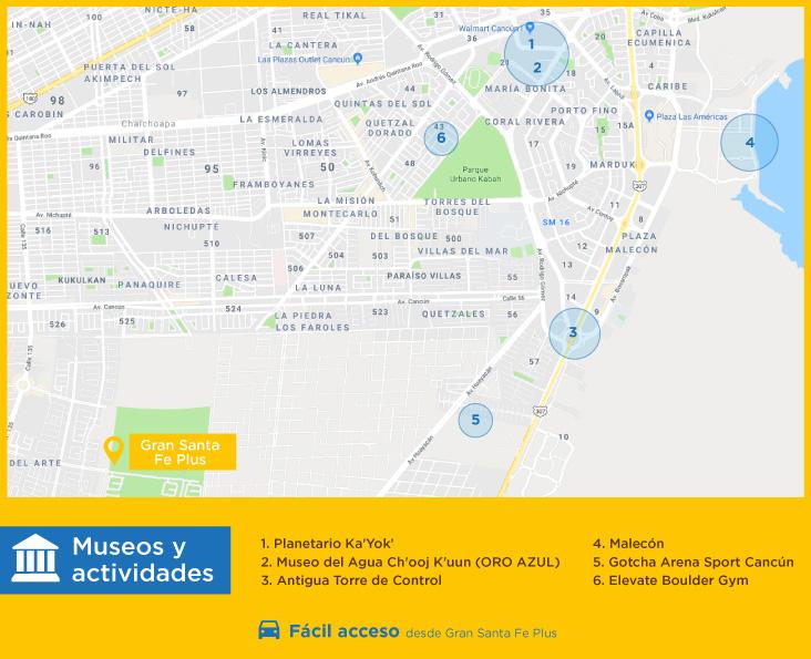 Gran Santa Fe Plus Museos actividades casas nuevas en venta en cancun