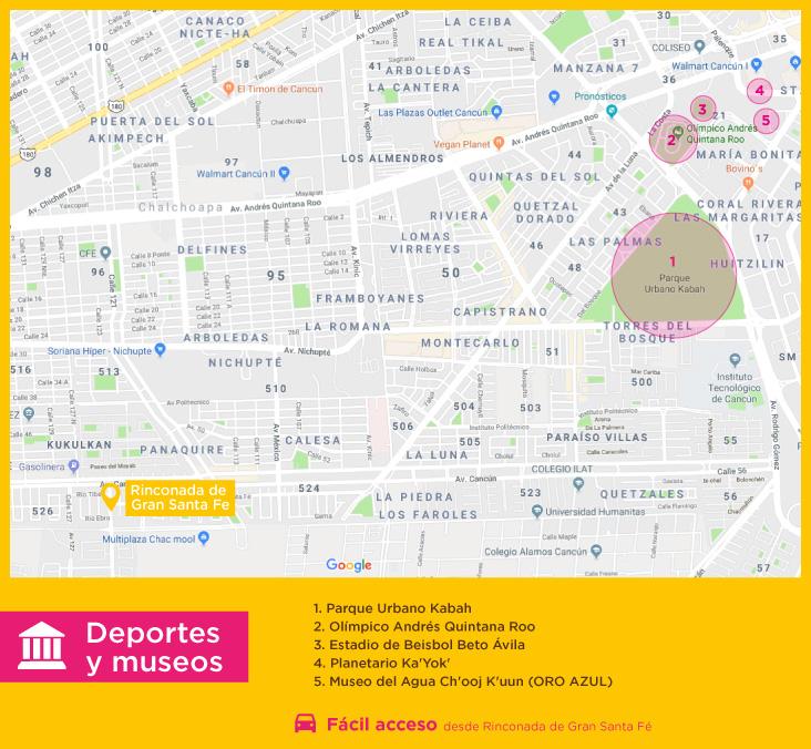 Rinconada Gran Santa Fe Deportes Museos casas nuevasen venta en cancun