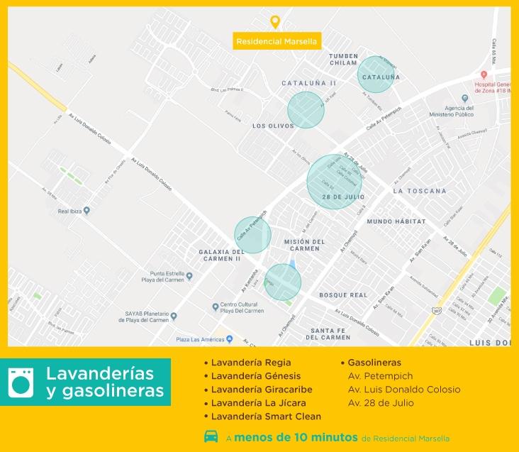 servicios marsella lavanderias gasolineras comprar casas nuevas en playa del carmen