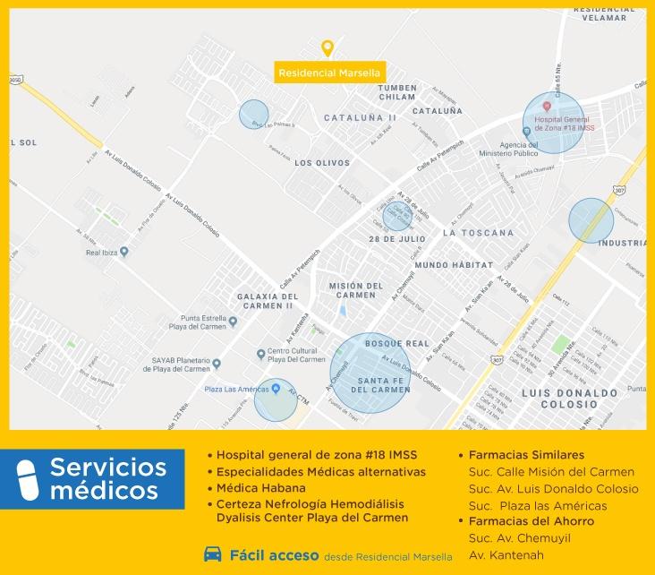 servicios marsella servicios medicos comprar casas nuevas en playa del carmen